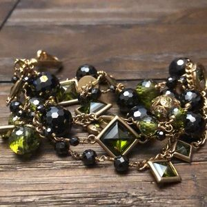 Henri Bendel beaded crystal bracelet